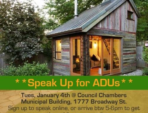 ADU Action Alert: